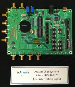 arasan chip systems ibm d-phy characterization board industry first