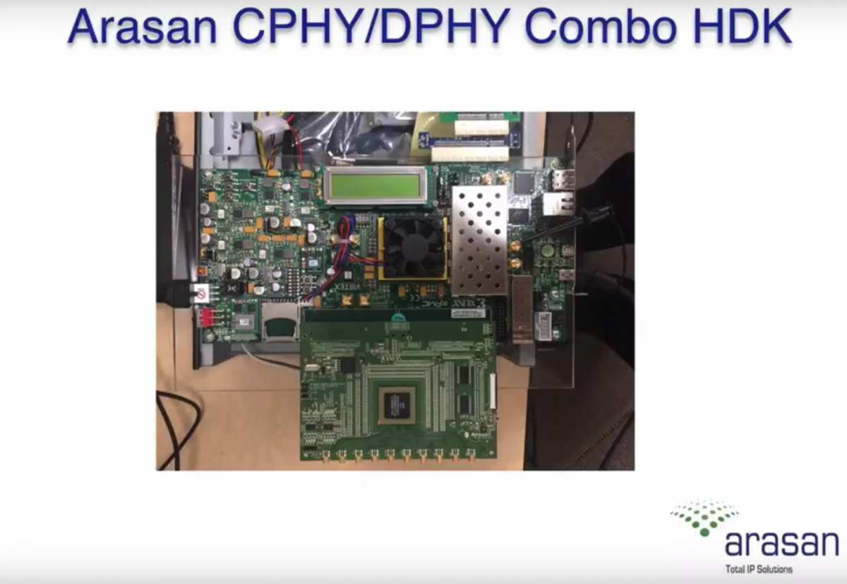 Arasan and Test Evolution announce Industry's first C-PHY / D-PHY